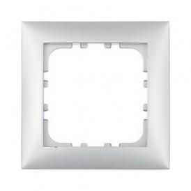 Рамка 1-постовая Экопласт LK60 серебристый металлик