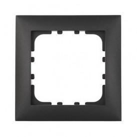Рамка 1-постовая Экопласт LK60 черный бархат
