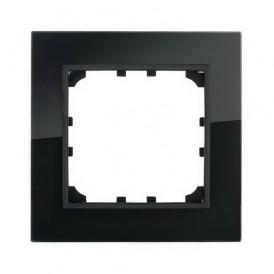 Рамка 1-постовая из натурального темного стекла Экопласт LK60