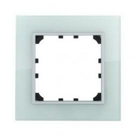 Рамка 1-постовая из натурального светлого стекла Экопласт LK60