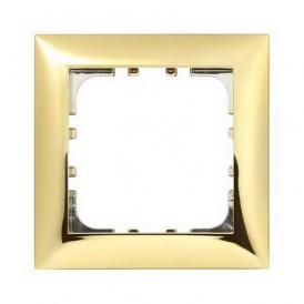 Рамка 1-постовая Экопласт LK60 золото