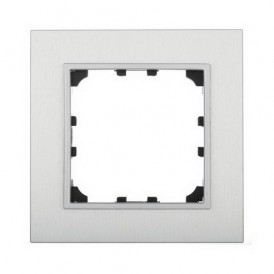 Рамка 1-постовая из натурального анодированного алюминия Экопласт LK60
