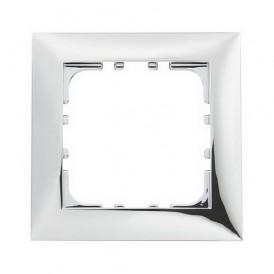 Рамка 1-постовая Экопласт LK60 блестящее серебро