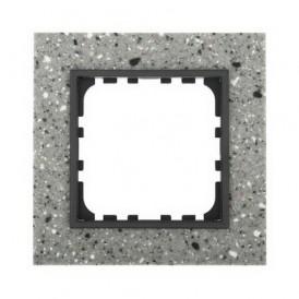 Рамка 1-постовая из декоративного камня (серый гранит) Экопласт LK60