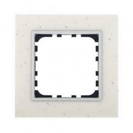 Рамка 1-постовая из декоративного камня (белый мрамор) Экопласт LK60