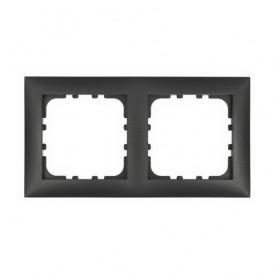 Рамка 2-постовая Экопласт LK60 черный бархат