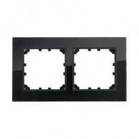 Рамка 2-постовая из натурального темного стекла Экопласт LK60