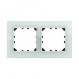 Рамка 2-постовая из натурального светлого стекла Экопласт LK60