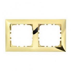 Рамка 2-постовая Экопласт LK60 золото