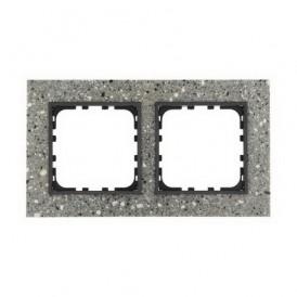 Рамка 2-постовая из декоративного камня (серый гранит) Экопласт LK60