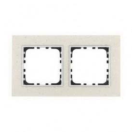 Рамка 2-постовая из декоративного камня (белый мрамор) Экопласт LK60