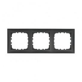 Рамка 3-постовая Экопласт LK60 черный бархат