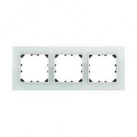 Рамка 3-постовая из натурального светлого стекла Экопласт LK60