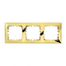 Рамка 3-постовая Экопласт LK60 золото