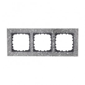 Рамка 3-постовая из декоративного камня (серый гранит) Экопласт LK60