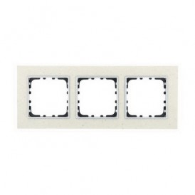 Рамка 3-постовая из декоративного камня (белый мрамор) Экопласт LK60