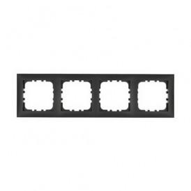 Рамка 4-постовая Экопласт LK60 черный бархат