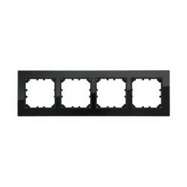 Рамка 4-постовая из натурального темного стекла Экопласт LK60
