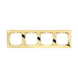 Рамка 4-постовая Экопласт LK60 золото