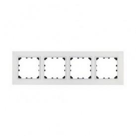 Рамка 4-постовая из натурального анодированного алюминия Экопласт LK60