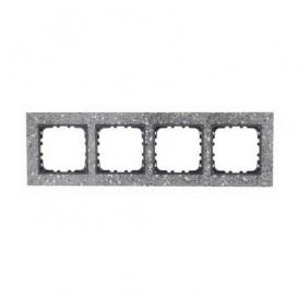 Рамка 4-постовая из декоративного камня (серый гранит) Экопласт LK60