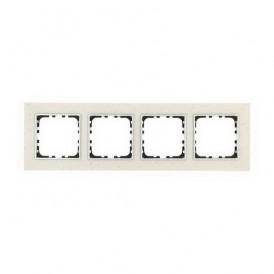 Рамка 4-постовая из декоративного камня (белый мрамор) Экопласт LK60