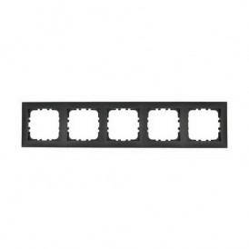 Рамка 5-постовая Экопласт LK60 черный бархат