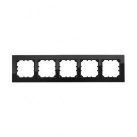 Рамка 5-постовая из натурального темного стекла Экопласт LK60