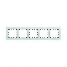 Рамка 5-постовая из натурального светлого стекла Экопласт LK60
