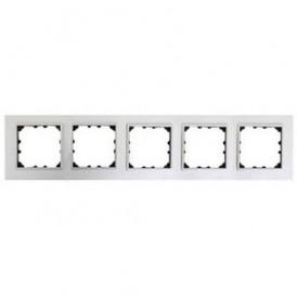 Рамка 5-постовая из натурального анодированного алюминия Экопласт LK60
