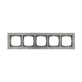 Рамка 5-постовая из декоративного камня (серый гранит) Экопласт LK60