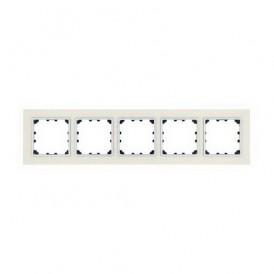 Рамка 5-постовая из декоративного камня (белый мрамор) Экопласт LK60