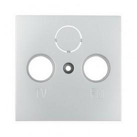 Накладка розетки TV+FM+SAT 2(3) Экопласт LK60 серебристый металлик