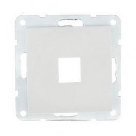 Накладка для RJ-разъема на 1 вход без разъема Экопласт LK60 белая
