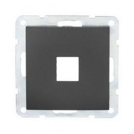 Накладка для RJ-разъема на 1 вход без разъема Экопласт LK60 черный бархат