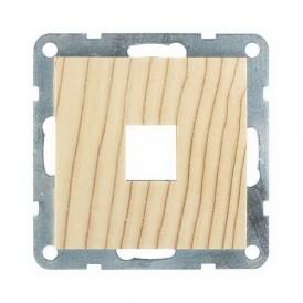 Накладка для RJ-разъема на 1 вход без разъема Экопласт LK60 сосна