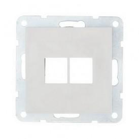 Накладка для RJ-разъема на 2 входа без разъема Экопласт LK60 белая