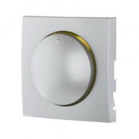 Накладка светорегулятора с желтой световой индикацией Экопласт LK60 серебристый металлик