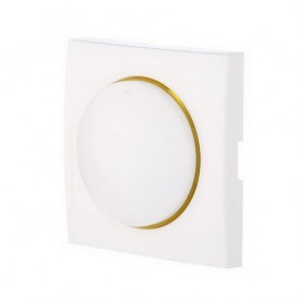 Накладка светорегулятора с желтой световой индикацией Экопласт LK60 белая