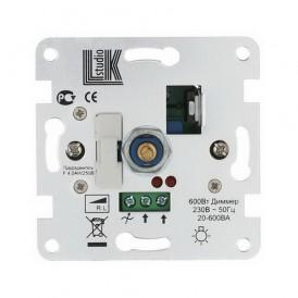 Механизм светорегулятора со световой индикацией Экопласт LK60 поворотно-нажимной с предохранителем 600 Вт