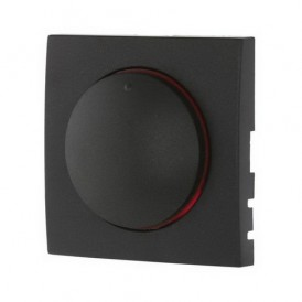 Накладка светорегулятора с красной световой индикацией Экопласт LK60 черный бархат