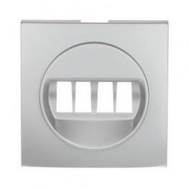 Накладка аудио-розетки Экопласт LK60 серебристый металлик