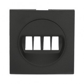 Накладка аудио-розетки Экопласт LK60 черный бархат