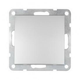 Заглушка с суппортом Экопласт LK60 серебристый металлик