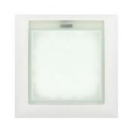 Рамка универсальная защитная с крышкой для выключателей и розеток Экопласт LK60 белая