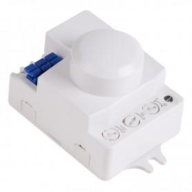 Датчик движения настенно-потолочный микроволновый ДДНПМ 01, 180°/360º, 1200 Вт, 10-2000 Лк, 3-10 м, 10-900 сек. 5,8 ГГц Rexant