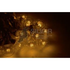 Гирлянда LED Galaxy Bulb String 10м, белый КАУЧУК, 30 ламп*6 LED ЖЕЛТЫЕ, влагостойкая IP65| 331-301| NEON-NIGHT