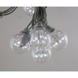 Гирлянда LED Galaxy Bulb String 10м, белый КАУЧУК, 30 ламп*6 LED БЕЛЫЕ, влагостойкая IP65| 331-305| NEON-NIGHT