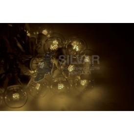 Гирлянда LED Galaxy Bulb String 10м, белый КАУЧУК, 30 ламп*6 LED ТЕПЛЫЙ БЕЛЫЙ, влагостойкая IP65 | 331-306| NEON-NIGHT