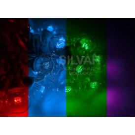 Гирлянда LED Galaxy Bulb String 10м, белый КАУЧУК, 30 ламп*6 LED МУЛЬТИ, влагостойкая IP65| 331-309| NEON-NIGHT